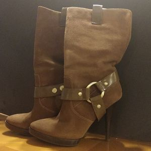 BCBG Suede heeled Boots Size 8